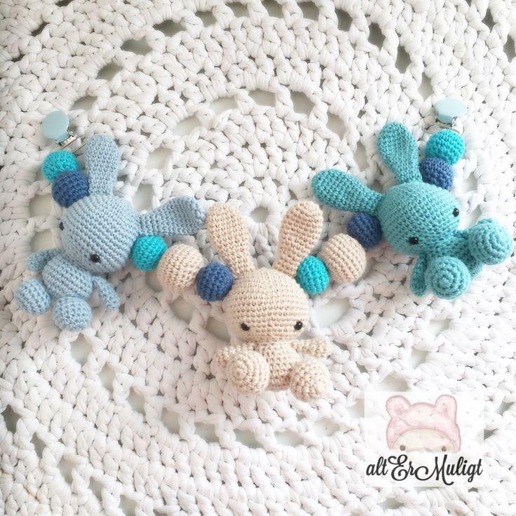 A personal favorite from my Etsy shop https://www.etsy.com/dk-en/listing/474765639/crochet-baby-bunnies-stroller-toy