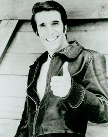 Fonz. :)  ~KJ~ He came to my work March 24, 1978. He was one of the nicest customers I ever had ! Too bad I can't say that about Bob Newhart...