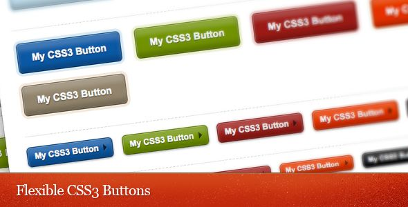 Flexible CSS3 Buttons Set . These buttons are created purely using  CSS , no images. It uses a slightly different method to generate the gradient effects. The hover transition  ONLY  available on Safari and