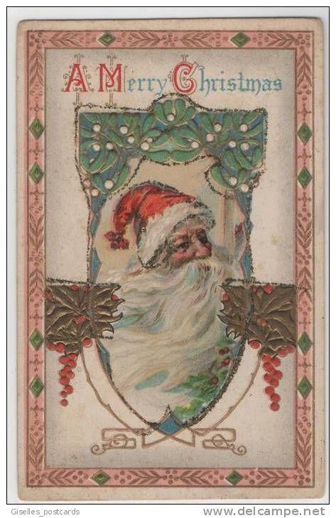 Christmas Card Art Nouveau Santa Claus Art Nouveau Post