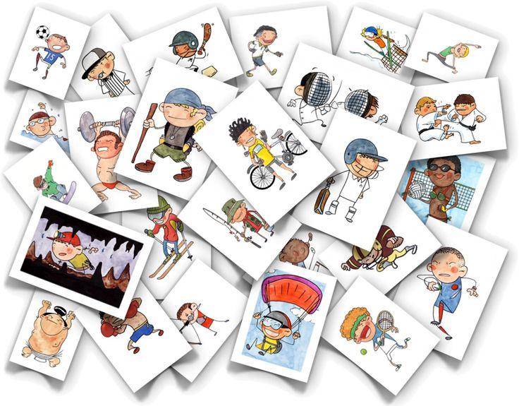 sports flash cards didattica autismo Pinterest