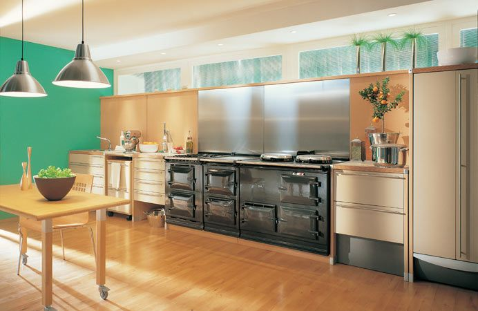 The 4-oven AGA cooker with Integrated Module in Pewter.