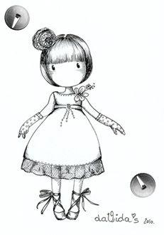 DaVida's dolls - Cute illustrations of little innocent girls