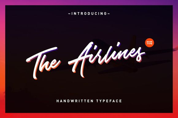 The Airlines Typeface by Ease Type on @creativemarket