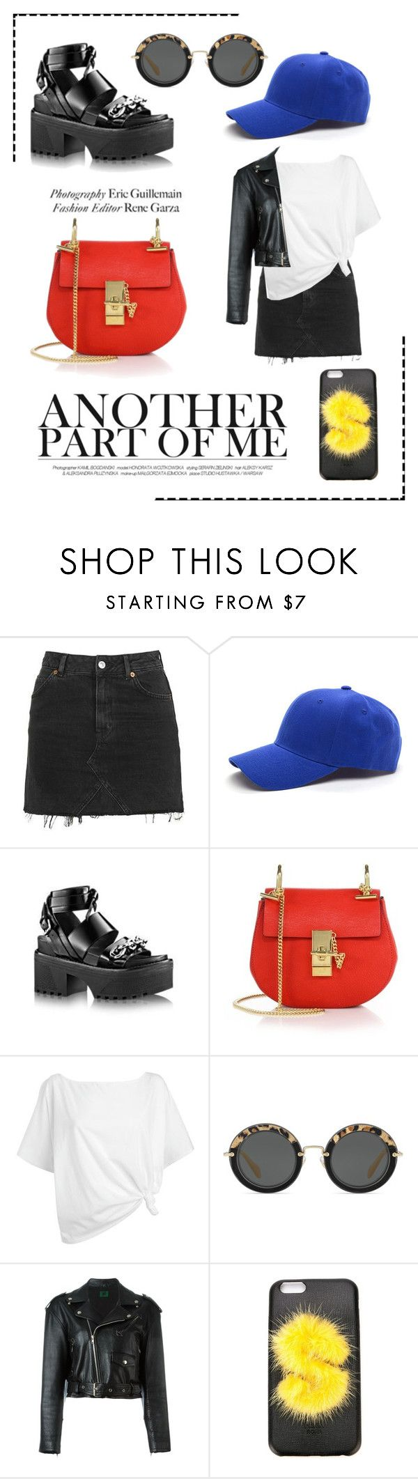 """""""Kasual"""" by valentinasune ❤ liked on Polyvore featuring Topshop, Chloé, Red Herring, Miu Miu, Jean-Paul Gaultier and Fendi"""