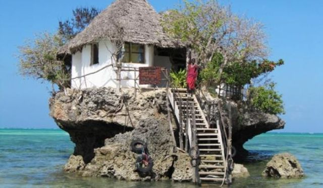 Rock Restaurant, Zanzibar, Tanzanya