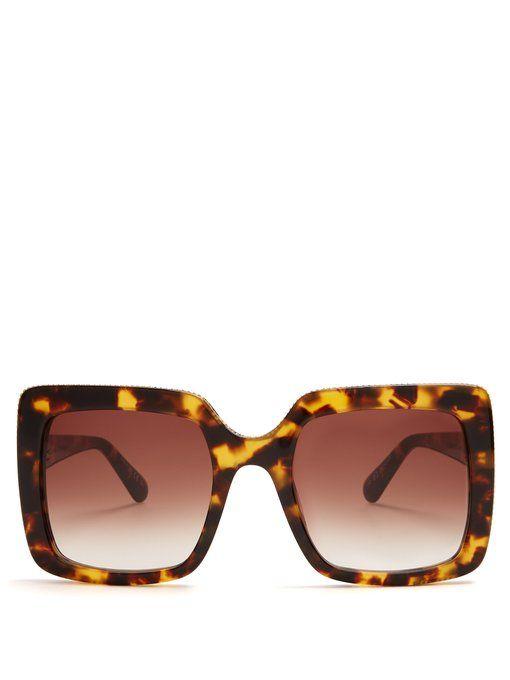 41c9a1d8dfa32 Stella McCartney Falabella square-frame sunglasses