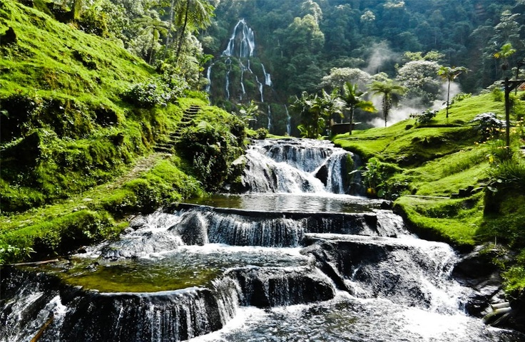 Thermal Springs in Colombia, South America.