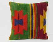 20x20 kilim pillow 20x20 large outdoor pillow 20x20 pillowcase oversized pillow cover extra large cushion oversize pillow case orange 27150