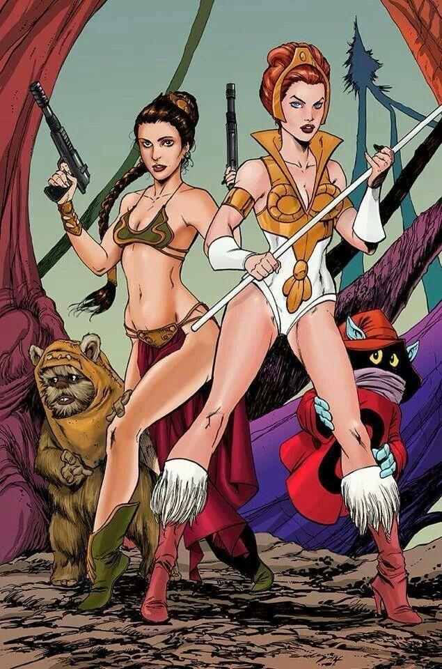 Princess Leia And Teala He Man The Masters Of Universe