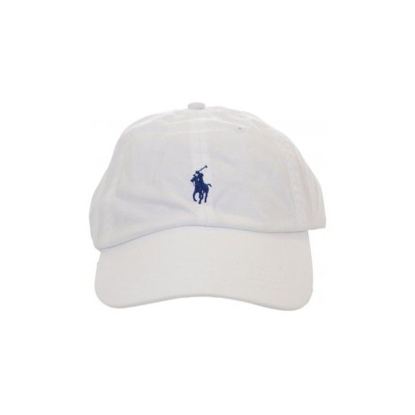 Polo Ralph Lauren White Polo Player Baseball Cap ($33) ❤ liked on Polyvore…