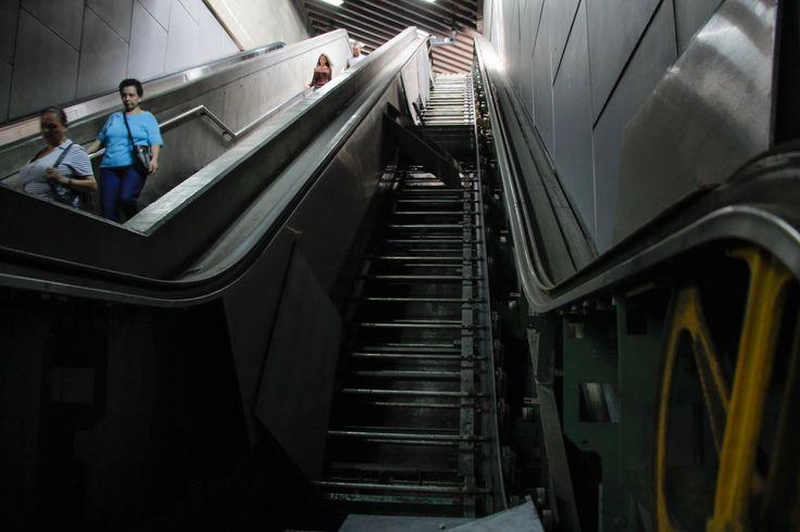 La desidia llegó al Metro de Caracas reportan 71 escaleras mecánicas dañadas