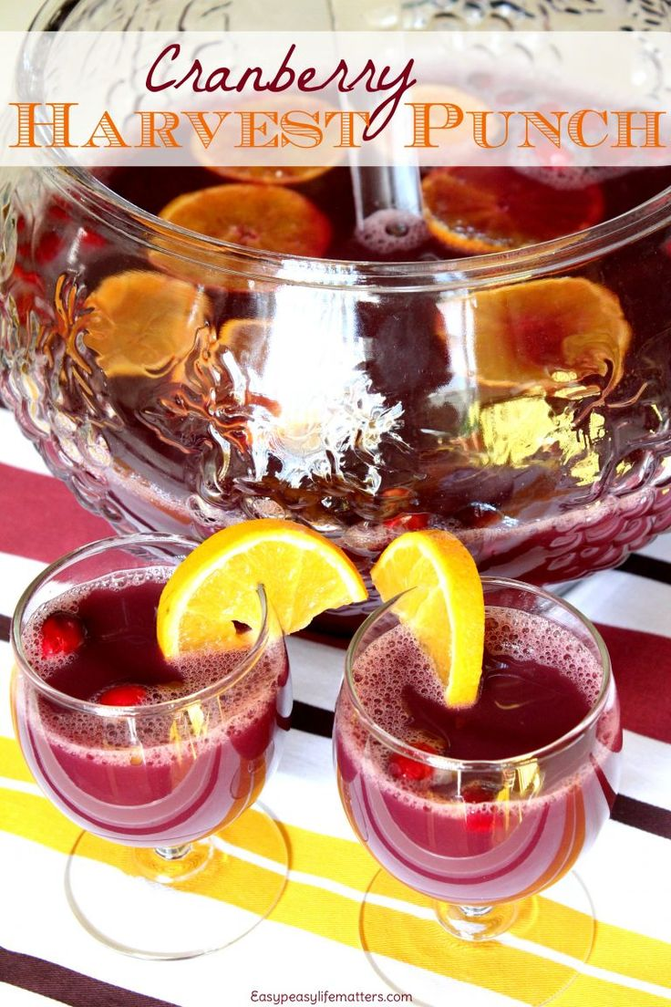 Cranberry Harvest Punch - This punch is a wonderful non-alcoholic drink to serve for Thanksgiving! It's tasty, quick to whip up and full of health promoting ingredients. #RealFood #HealthyRecipes #CleanEating #Drinks
