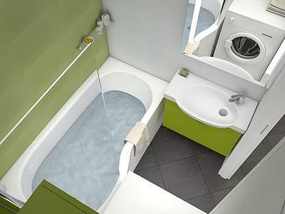 Asymetrická vana do malé koupelny