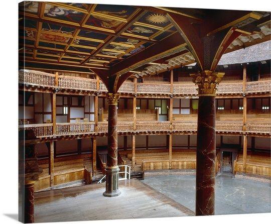 England, London, Shakespeare's Globe Theatre, Interior