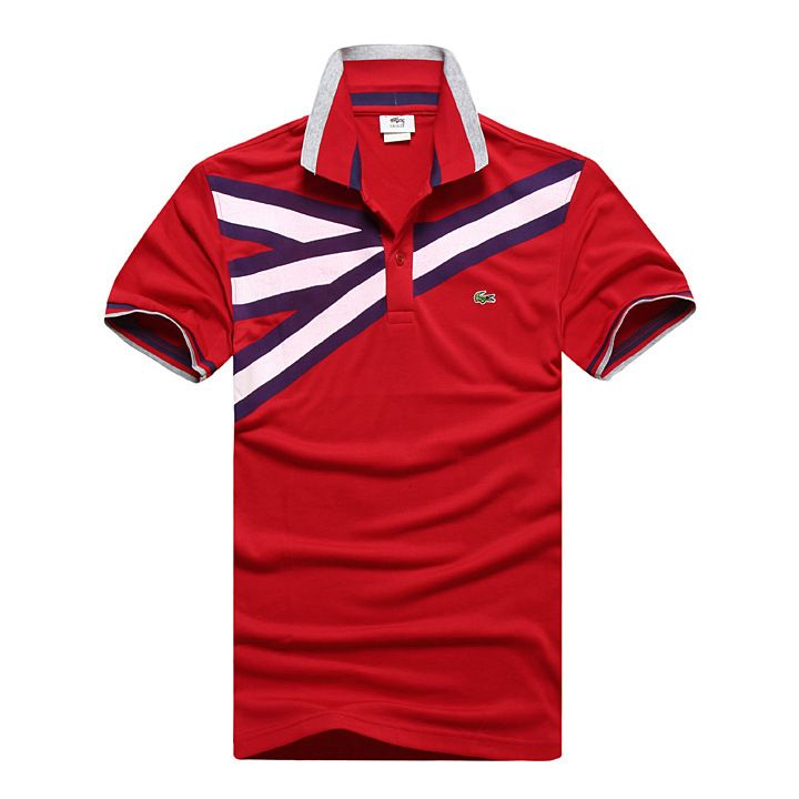 cheap polo ralph lauren shirts Lacoste Short Sleeve Pique Polo Shirt Red / Purple / White http://www.poloshirtoutlet.us/