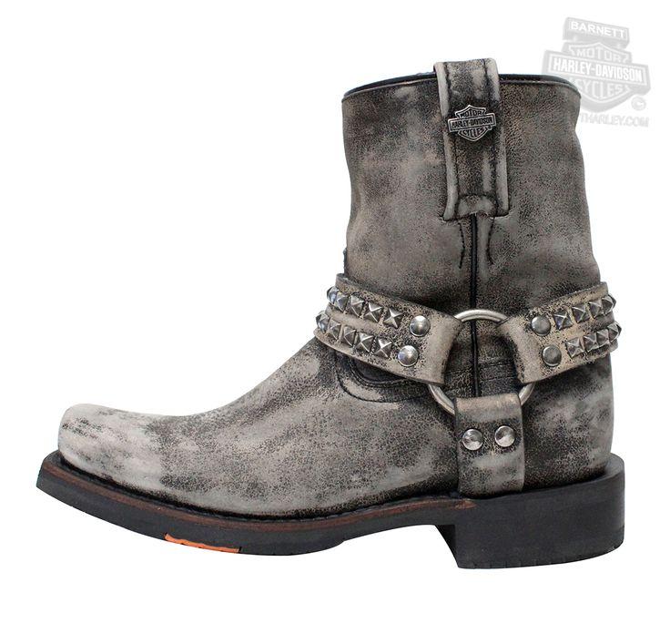 83696 - Harley-Davidson® Womens Katerina Slate Leather Mid Cut Boot - Barnett Harley-Davidson®#.VZG61GdFCM8#.VZG61GdFCM8