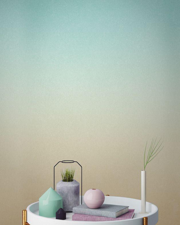 mur déco en dégradé de couleur - Le Blog déco de mlc