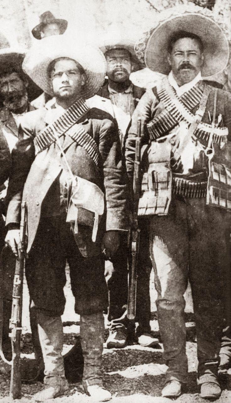 En la Revolución Villa con Calixtlo Contreras