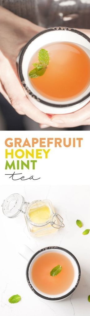 A quick and delicious tea that you can make at home! The refreshing and sweet combination of fresh mint, grapefruit juice and honey is like a warm hug any day of the week. A healthy, caffeine free alternative that comes together in minutes. Gluten Free.