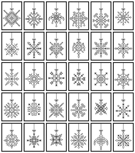 30 blackwork ornaments to use indiviually or as a by sebadesigns
