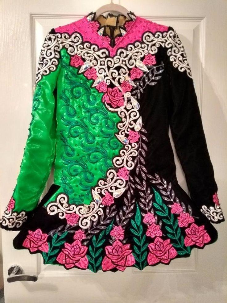 Cute Black Rising Star Designs Irish Dance Dress Solo Costume For Sale