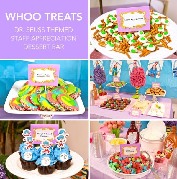 Dr Suess themed party and food (adorable)
