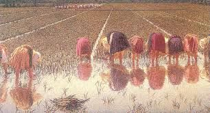 Working in the water: Angelo Morbelli, Le spigolatrici.