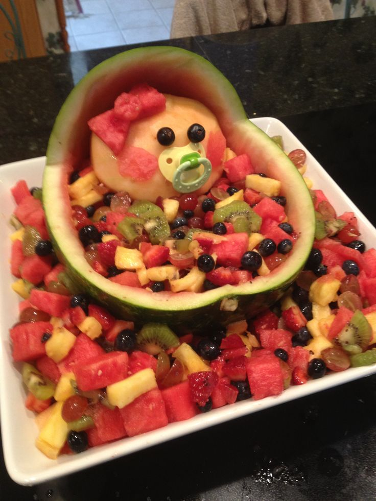 my spin on baby shower fruit tray baby ideas pinterest