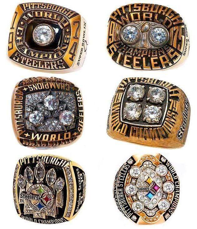 Pittsburgh Steelers Super Bowl Rings.