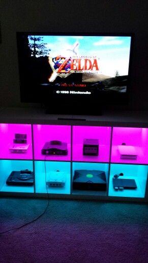 Man Cave Entertainment : My classic video game entertainment center geek