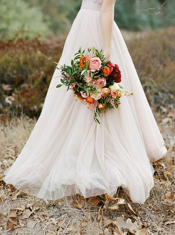 Soft pink fall wedding inspiration | Photo by Morgan Lamkin Photography