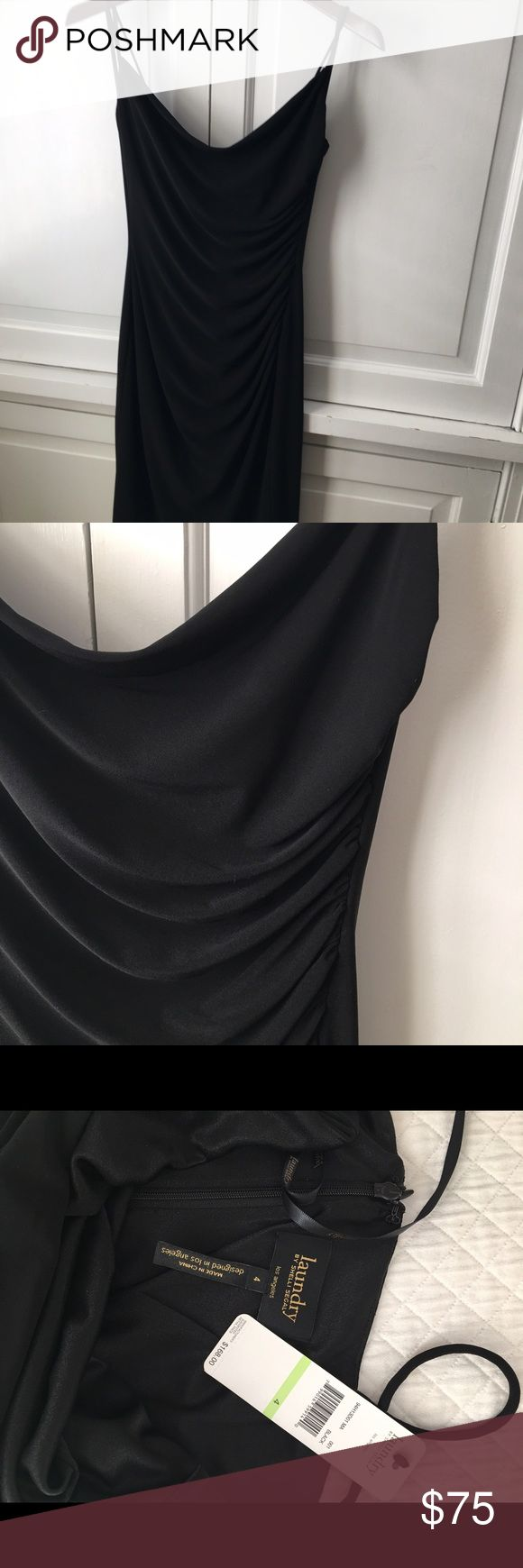 Very sexy and comfortable black laundry dress Perfect date night or wedding black laundry dress. Laundry by Shelli Segal Dresses Midi