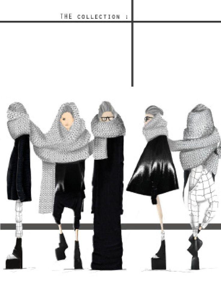 Fashion Sketchbook - fashion drawings; lineup; fashion portfolio // Nicolette Capizzo