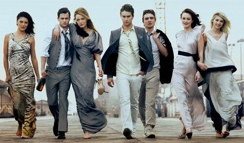 Jessica Szohr, Penn Badgley, Blake Lively, Chace Crawford, Ed Westwick, Leighton Meester, and Taylor Momsen.......
