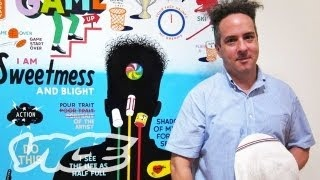 the art of sign painting with steve powers, via youtube. (11:40)