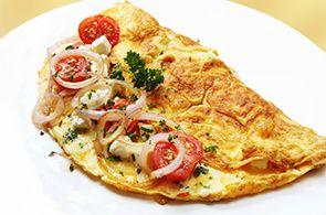Omelette con tonno e cipolla