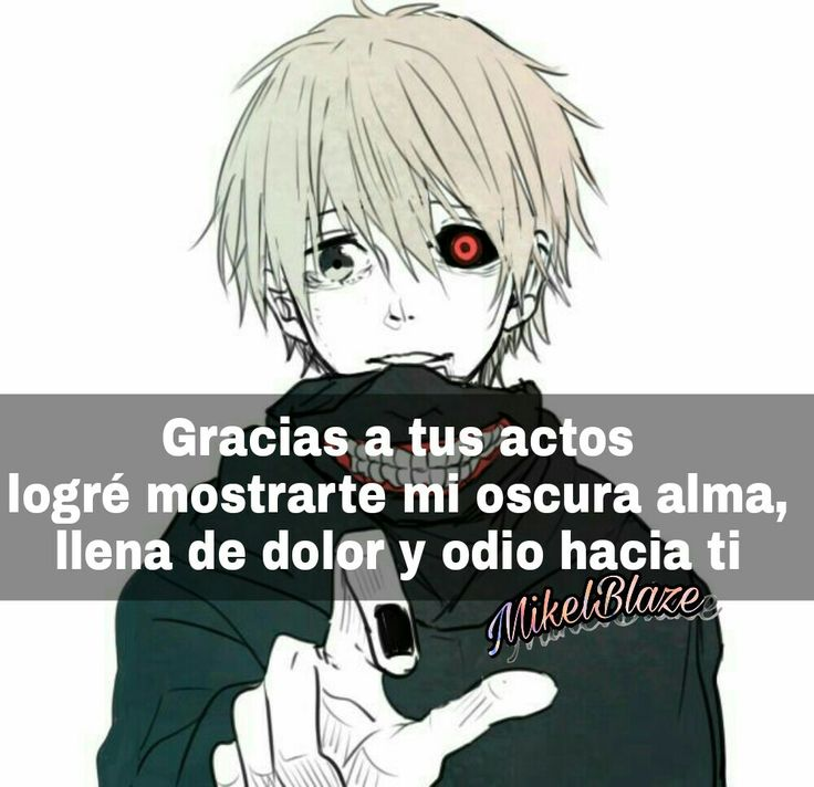 Frases anime, dolor, odio