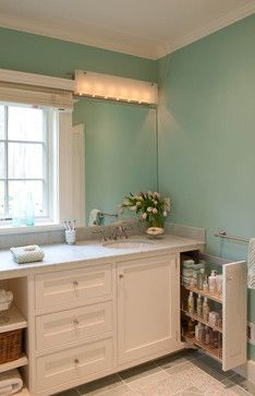Beachfront Cottage - Martha's Vineyard, MA - beach style - bathroom - boston - Elizabeth Swartz Interiors