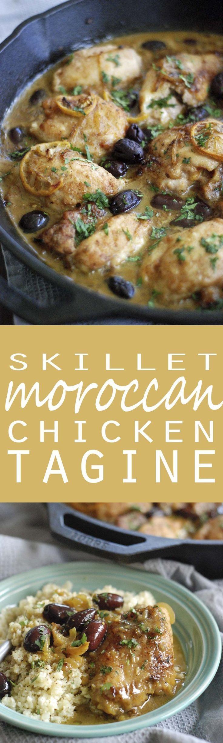 Paleo Skillet Moroccan Chicken Tajine Recipe