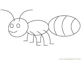 ant coloring pages for kids preschool and kindergarten - Coloring Page Ant