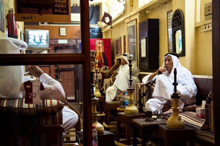 Doha | Smoking shisha at Souq Waqif. view on Fb https://www.facebook.com/SinbadsQatarPocketGuide #doha #qatar  credit: Omar Chatriwala
