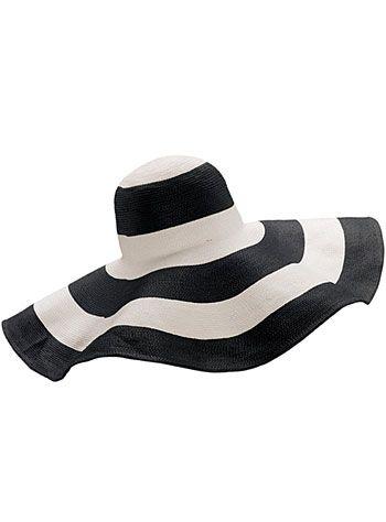 50's Stripe Retro Audrey Hat | PLASTICLAND