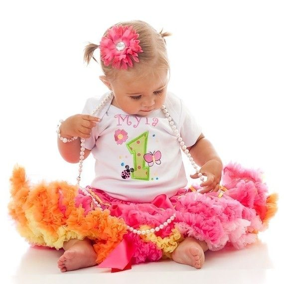 3 Pc Girls Flower Garden Party Pettiskirt Set With Onesie and Bloomer