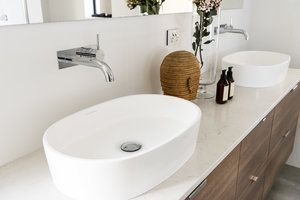 We used this stunning Victoria + Albert Ios countertop basin in one of our luxury bathroom renovations