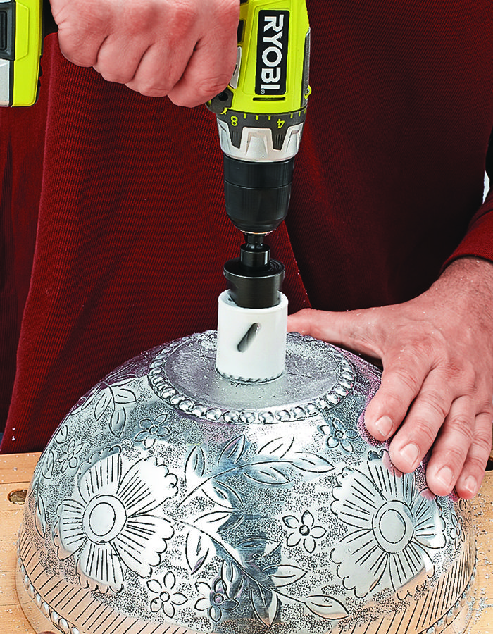 Transform Basic Bowls into Pendant Lights