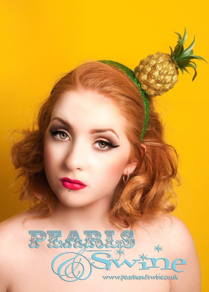 "Glitter Pineapple Headpiece ""Chi Chi"" – PearlsandSwine"