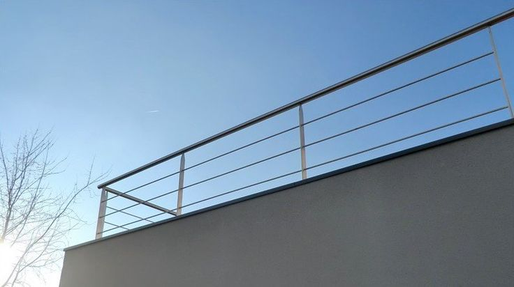 garde corps ext rieur demi hauteur en bastingage inox balustrades gardes corps pinterest. Black Bedroom Furniture Sets. Home Design Ideas