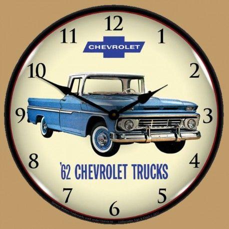 Horloge Lumineuse Rétro-Éclairé Chevrolet Camions/Pickups 1962