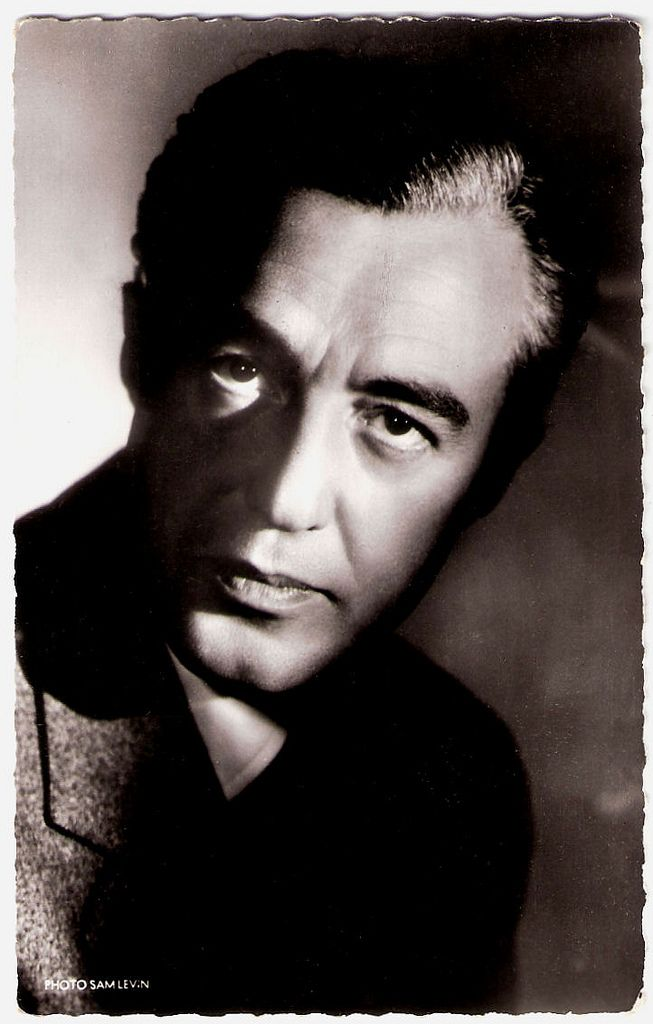 Vittorio de Sica (1901-1974) - Italian director and actor, a leading figure in the neorealist movement. Photo by Sam Lévin